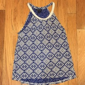 Lucky Brand racer back tank top size M